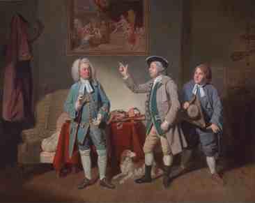 """Edward Shuter, John Beard, and John Dunstall in Isaac Bickerstaffe's """"Love in a Village"""""""